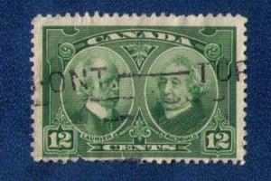 Canada Sc 147 Used 12c Laurier & Macdonald F-VF