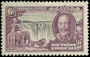 Southern Rhodesia  - 36  - Unused - SCV-11.00
