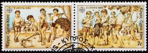 Cyprus 1989 7c(Pair) S.G.740/741 Fine Used