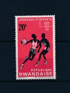 [46285] Rwanda 1966 Sports Basketball from set MNH