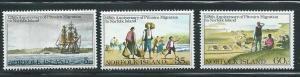 Norfolk Island 277-9 1981 125th Pitcairn Migration set MNH