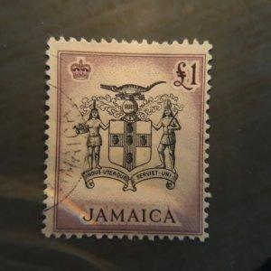 Jamaica 174  1 pound vf used