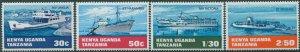 Kenya Uganda Tanganyika 1969 SG256-259 Water Transport set MNH