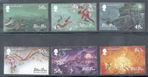 Alderney Sc 383-8 2010 Peter Pan stamp set mint NH