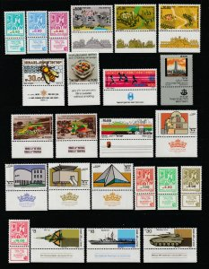 Israel a nice MNH lot with tabs from 1980's