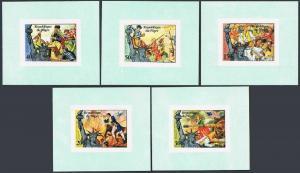 Niger 352-C271 deluxe,C272 imperf,MNH.Mi  514B-518B,Bl.13B. USA-200,1976.Liberty