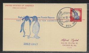 South Africa Antarctica 1962-1963 Marioneiland Cancel (*sch*)