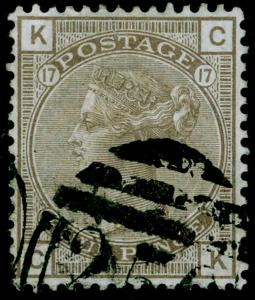 SG154, 4d grey-brown plate 17, USED. Cat £550. CK