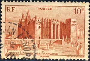 AOF/CÔTE-D'IVOIRE - CAD ABIDJAN AÉROPORT CERCLE POINTILLÉ SUR Yv. 39