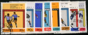 POLAND - SC #1405 to 1412- Used Set of 8 Stamps- 1966 - Item Poland023