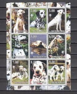 Mordovia, 2000 Russian Local. Dalmation on a Dog sheet of 9.