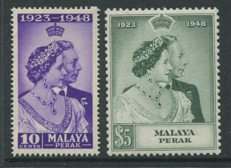 Malaya Perak -Scott 99-100 - Silver Wedding Issue -1948 -MNH-Set of 2 Stamps