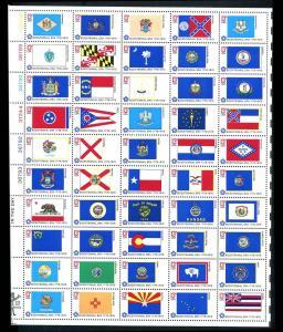 1633 - 1682 13¢ Bicentennial State Flags, SHEET of 50, MINT NH OG, 2nd Quality