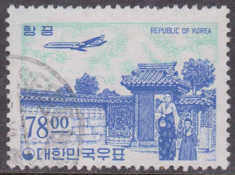 Korea - 1964 78 W Air Mail Used VF CDS #C37
