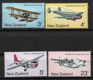 1974 New Zealand 556-9 Development of New Zealand's Air Transport C/S MNH