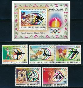 Burkina Faso - Montreal Olympic Games MNH Set #387-C228  (1976)