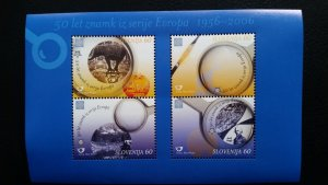 50th anniversary of EUROPA stamps - Slovenia 1x Bl ** MNH