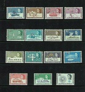British Antarctic Territory:1963 Antarctic Transport definitive set, MNH