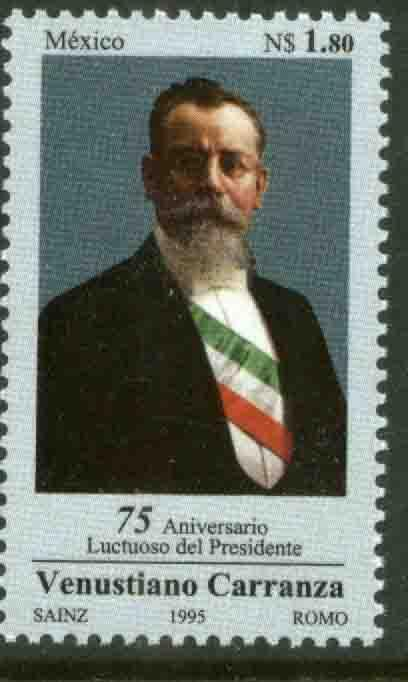 MEXICO 1917, Venustiano Carranza Pres. of Mex. Mint, NH (69)