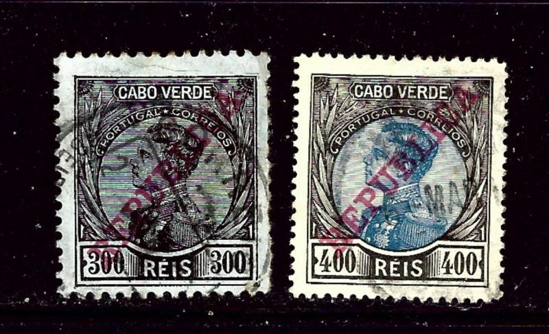 Cape Verde 109-10 Used 1912 overprints