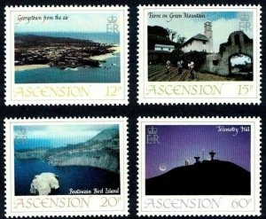 ASCENSION - 1983 - VIEWS - GEORGETOWN - BIRD ISLAND ++ MINT - MNH SET OF 4!