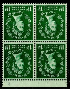 SG SB63a, ½d green, NH MINT. Cat £12. WMK INV.