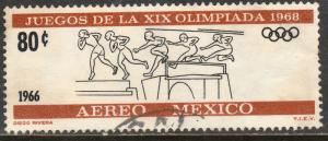 MEXICO C318, 80c 2nd Pre-Olympic Issue - 1966 Used. F-VF. (438)