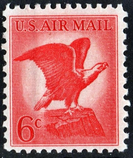 SC#C67 6¢ Bald Eagle: Untagged (1963) MNH