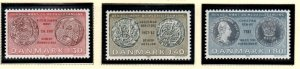 Denmark Sc 672-74 1980 Old Coins stamp set mint NH