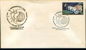 MEXICO 1284, FDC  UN Conference Peaceful uses of Outer Space