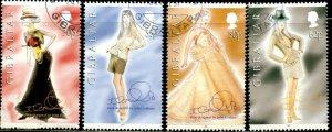 GIBRALTAR Sc#735-738 1997 Dior Fashion Design Complete Used