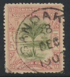 North Borneo  SG 96  Used crisp 1907 cancel  perf 13½ please see scan & details