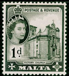 MALTA SG268, 1d black, LH MINT.