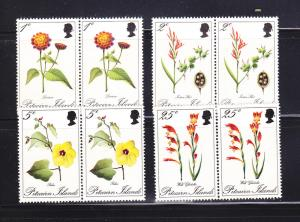 Pitcairn Islands 110-113 Pairs Set MNH Flowers (C)