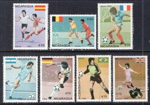 Nicaragua C1143-C1149 Soccer MNH VF