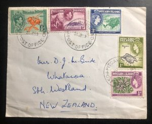 1959 Pitcairn Island Cover Stamp To Whatoroa New Zealand