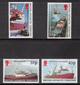BRITISH ANTARCTIC 2000 Survey Ships; Scott 289-92, SG 325-28; MNH