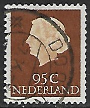 Netherlands # 360A - Queen Juliana 95ct. - used....(P5)
