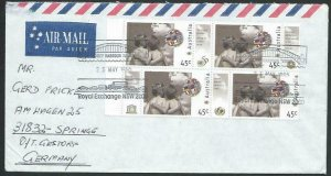 AUSTRALIA 1995 cover to Germany - nice franking - Sydney Pictorial pmk.....14706