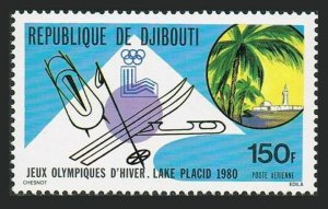 Djibouti C128,MNH.Michel 265. Olympics Lake Placid-1980.Skis,sleds.