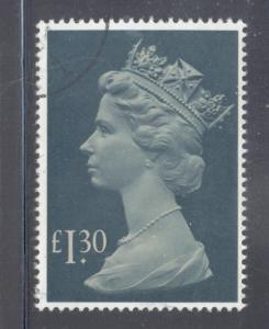 Great Britain Sc MH170 1983 £1.30 QE II Machin Head stamp used