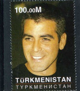 Turkmenistan 2001 GEORGE CLOONEY 1v Perforated Mint (NH)