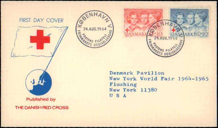 Denmark, Worldwide First Day Cover, Red Cross