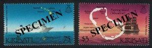 Kiribati Ships Tourism Fanning Island 2v Specimen SG#633-634