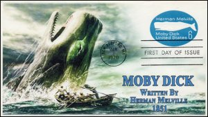 AO-U554, 1970, Moby Dick, First Day Cover, Add-on Cachet, 6 cent, postal station