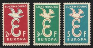Luxembourg, Europa 1958, Scott# 341-343 MNH
