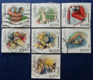 Iceland Sports Stamps Scott # 706, 708-711B Used (I692)
