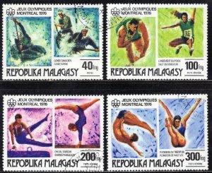 MALAGASY  SCOTT #543+C153-55  CTO 1976 OLYMPICS   SEE SCAN