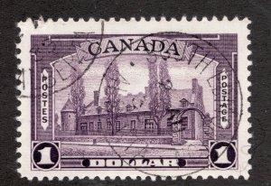 #245 - Canada - 1938 - Ramenzay $1 cds South Edmonton - VF - superfleas