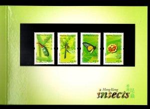 Hong Kong Insects 2000 Presentation Pack Folder stamps set of 4 MNH Fauna nature